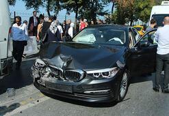 Halıcıoğlunda zincirleme trafik kazası