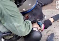 Hong Kongda polis göstericiyi gerçek mermiyle vurdu