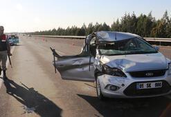 Şanlıurfa'da otomobil TIRa çarptı: 2 yaralı