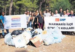 CHP'li gençlerden çevre temizliği