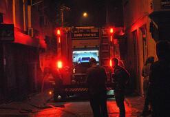 İzmirde hareketli gece Bina boşaltıldı