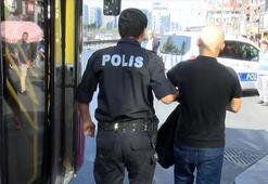 Halk otobüsünde hırsızlık alarmı Şüpheli yakalandı