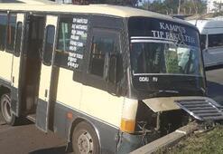 Dehşet Minibüs içindeki yolcularla önce yayaya sonra da...