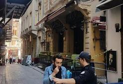 İstanbulda panik anları Bir binada çökme riski...