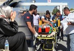 Bisikletli yaralandı, kadın sürücü ağladı