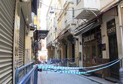 Sokak kapatıldı, dükkanlar boşaltıldı