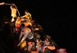 Edirnede lastik botta 37 kaçak göçmen yakalandı
