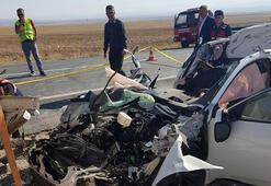 Okula giden öğretmenler kaza yaptı: 1 ölü, 1 yaralı