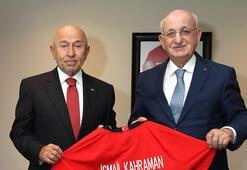 Eski TBMM Başkanı Kahramandan Nihat Özdemire ziyaret