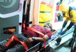 Alkollü sürücü dehşeti Sağlık görevlilerine bıçak çekti