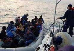 Didim açıklarında 34 kaçak göçmen yakalandı