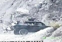 2 askerin şehit düştüğü kazanın görüntüleri ortaya çıktı