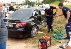 Otomobil ile taksi çarpıştı: 6sı Ürdünlü, 8 yaralı