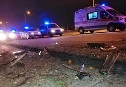 TEM Otoyolunda korkunç kaza: 2 ölü, 1 yaralı