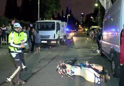 Motosiklet çöp kamyonuna çarptı... 2 ağır yaralı var