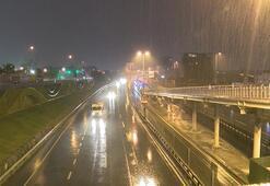 İstanbulda kuvvetli yağış