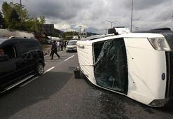 Düzcede makas atan sürücü zincirleme kazaya neden oldu