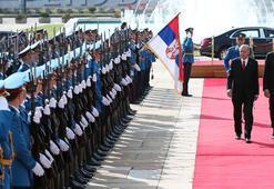 Cumhurbaşkanı Erdoğan Sırbistanda resmi törenle karşılandı