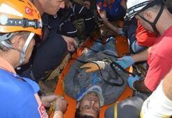 Defineci kuyuya düştü 3,5 saatte kurtarıldı