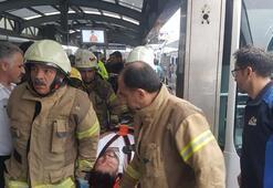 Metrobüsler çarpıştı Yaralılar var