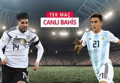 Almanya - Arjantin canlı bahis heyecanı Misli.comda...