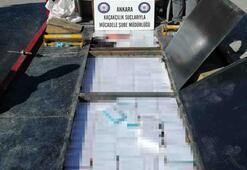 Başkentte 9 bin paket kaçak sigara ele geçirildi