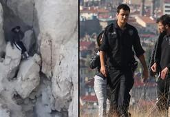 Kayalıklarda mahsur kalan gençler 5 saat kurtarılmayı bekledi