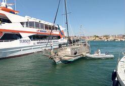 Usta denizci Teos'ta  demirledi