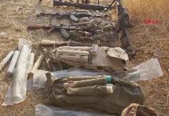 Silah ve mühimmatlarını bırakarak kaçtılar