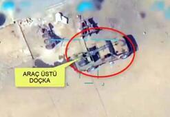 Doçka uçaksavar monteli araç böyle vuruldu