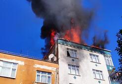 Bağcılarda korkutan yangın
