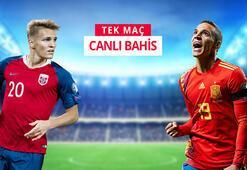 Norveç - İspanya maçı canlı bahis heyecanı Misli.comda