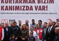 Trabzonspordan kan bağışı kampanyasına destek