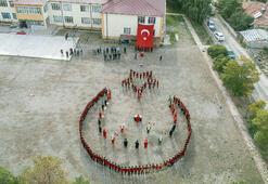 Öğrencilerden Barış Pınarı Harekatına ay-yıldızlı destek