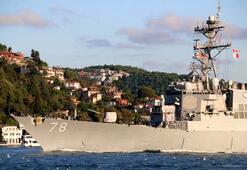 ABD savaş gemisi Boğazı geçti