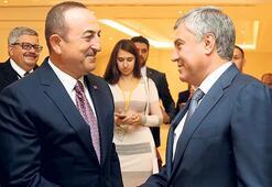Çavuşoğlu, Rus Duma Başkanı ile görüştü