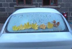 -7yi gördü, araçların camları buz tuttu