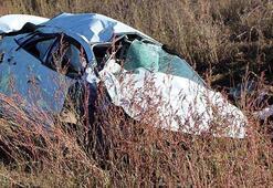 Otomobil takla attı Aynı aileden 3 kişi öldü