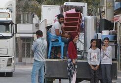 Teröristlerin havanlı saldırısından sonra Nusaybinde taşınmalar başladı