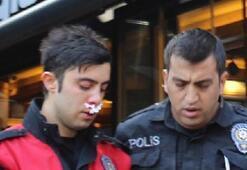 Kimlik kontrolü yapan polise çirkin saldırı