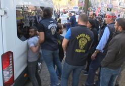 Beşiktaşta slogan atan HDPlilere polis müdahale etti