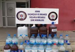 Adanada manava kaçak içki operasyonu: 185 litre kaçak içki ele geçirildi
