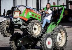 Traktörler Makrobatla eğimli arazide güvende