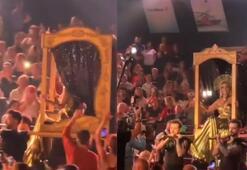 Şarkıcı Linet'ten çıplak ayak dans şov