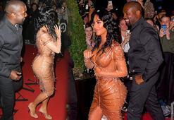Kim Kardashian ve Kanye Westin elbise tartışması