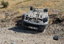 Otomobil takla attı Yaralılar var