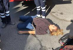 Yerde yatan kadın alarmı Polisler hemen harekete geçti