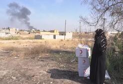 Kızılay ekibi insani yardım için Tel Abyada girdi