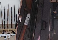 Beyşehirde 156 adet kaçak silah ele geçirildi