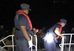 Havadan tespit edilen 105 göçmen yakalandı